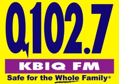 Q102.7 KBIQ Logo, Color