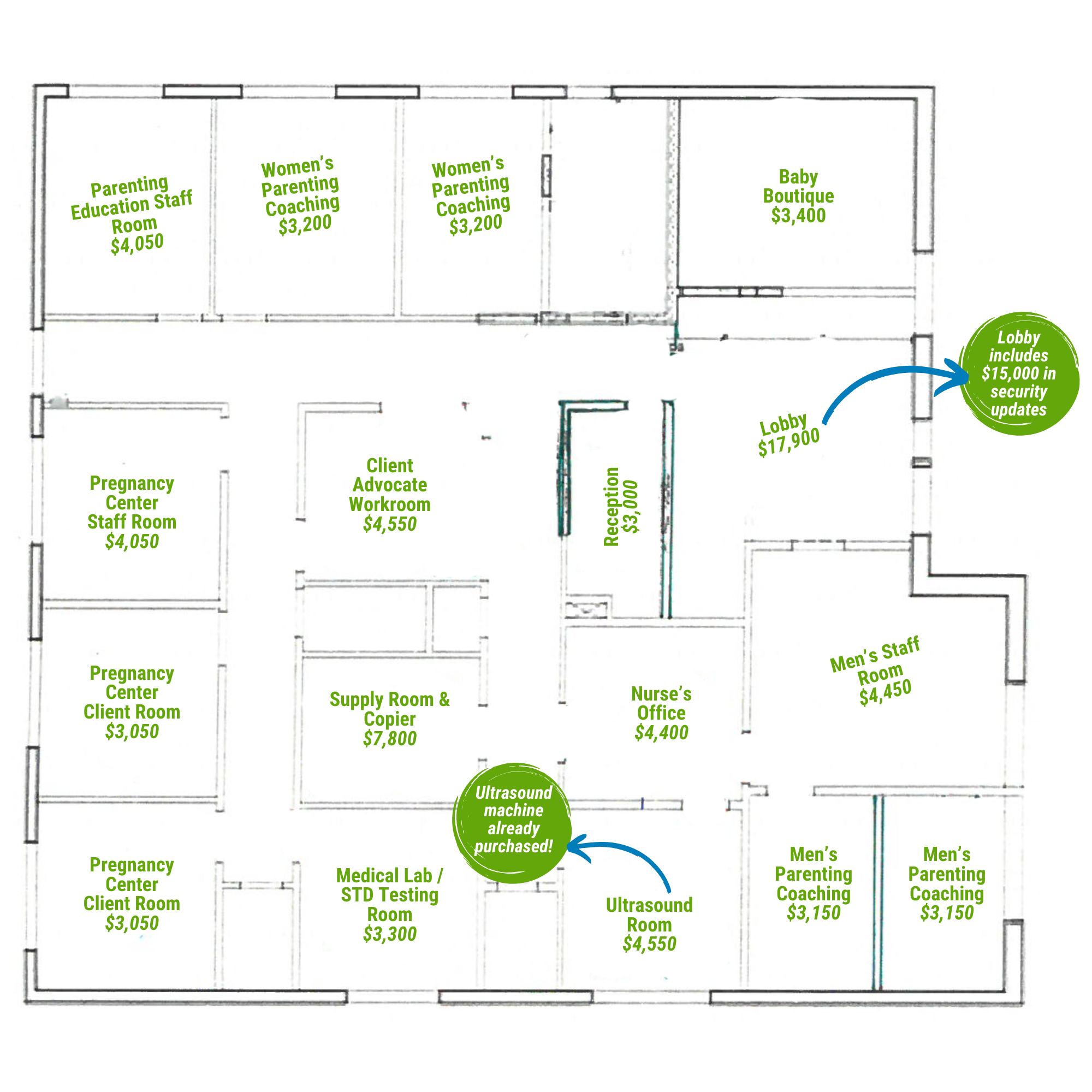 Life Network Fountain Center Layout